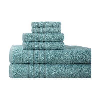 Strafford 6 Piece Towel Set Color: Surf