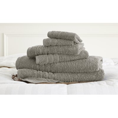 Strafford 6 Piece Towel Set Color: Silver