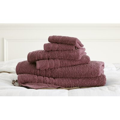 Strafford 6 Piece Towel Set Color: Rose