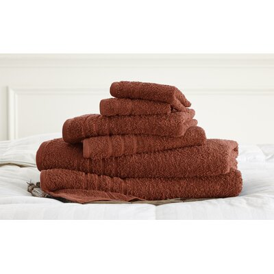 Strafford 6 Piece Towel Set Color: Spice