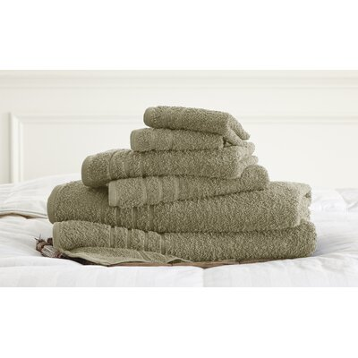 Strafford 6 Piece Towel Set Color: Taupe