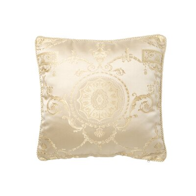 Fairmount Damask Decorative  Throw Pillow Color: Gold