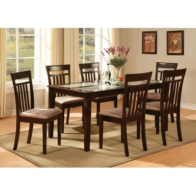 Smyrna Dining Table Table Finish: Mahogany, Table Top Material: Wood