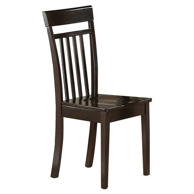 Smyrna Side Chair (Set of 2) Side Chair Finish: Mahogany, Side Chair Upholstery: Leather