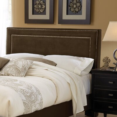 Wabanaki Upholstered Panel Headboard Size: King, Upholstery: Chocolate