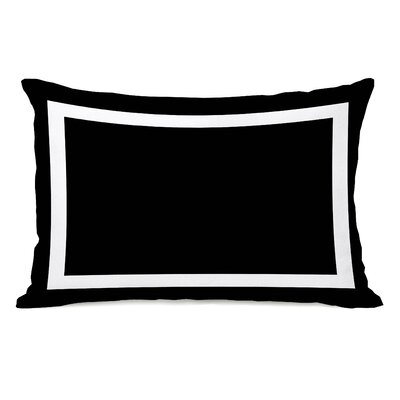 Alleyton Simple Lumbar Pillow Color: Black