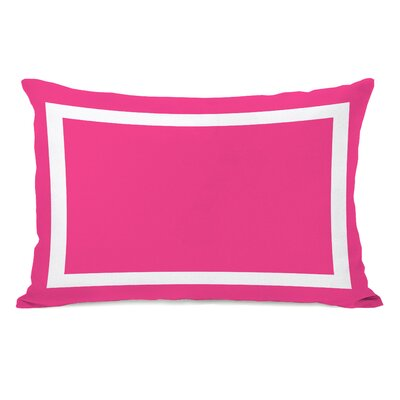Alleyton Simple Lumbar Pillow Color: Hot Pink