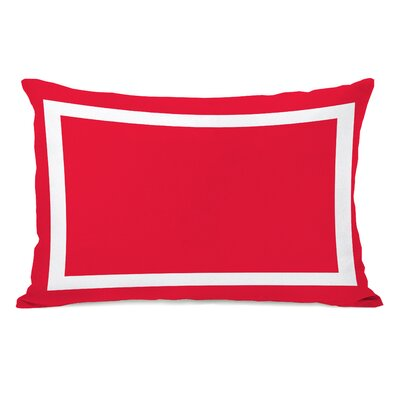 Alleyton Simple Lumbar Pillow Color: Bright Red