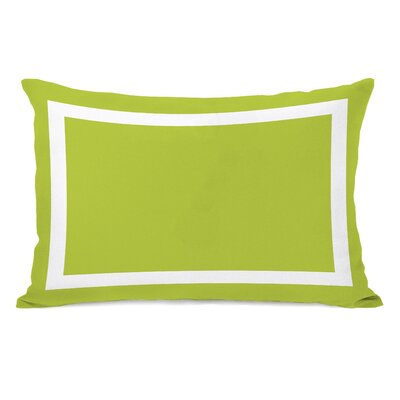 Alleyton Simple Lumbar Pillow Color: Lime Green