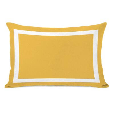 Alleyton Simple Lumbar Pillow Color: Mimosa Yellow