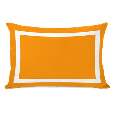 Alleyton Simple Lumbar Pillow Color: Orange