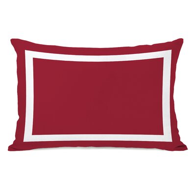 Alleyton Simple Lumbar Pillow Color: Chili Pepper Red