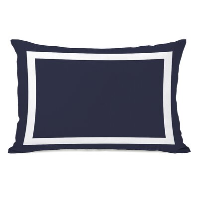 Alleyton Simple Lumbar Pillow Color: Navy