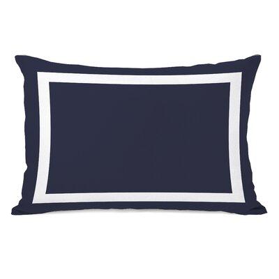 Alleyton Simple Lumbar Pillow Color: Navy
