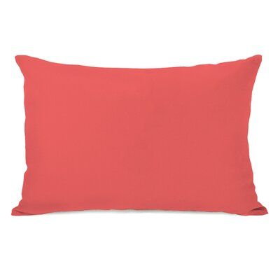 Benbrook Lumbar Pillow Color: Dark Coral