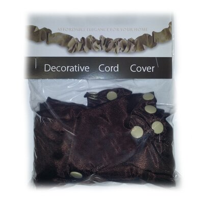 Darmsta Silk Decorative Electrical Cord Cover Finish: Chocolate