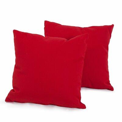 Bonniview Canvas Indoor/Outdoor Sunbrella Throw Pillow Color: Jockey Red