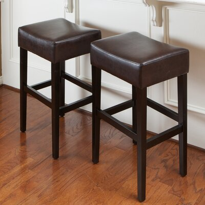 Ridgedale 30 Bar Stool Upholstery: Brown