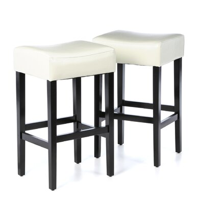Ridgedale 30 Bar Stool Upholstery: Ivory