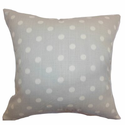 Bienville Ikat Dots Cotton Throw Pillow Color: Natural, Size: 18 H x18 W