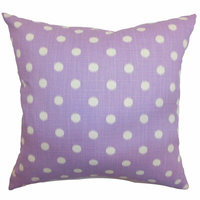 Bienville Ikat Dots Cotton Throw Pillow Color: Grapevine Dosset, Size: 18 H x18 W