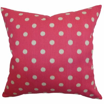 Bienville Ikat Dots Cotton Throw Pillow Color: Fuchsia, Size: 20 H x 20 W