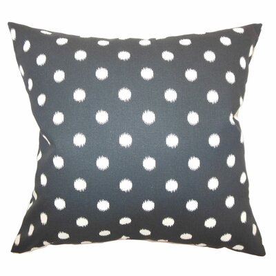 Bienville Ikat Dots Cotton Throw Pillow Color: Onyx Natural, Size: 18 H x18 W