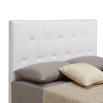 Robinson Upholstered Panel Headboard Size: Full / Queen, Upholstery: White