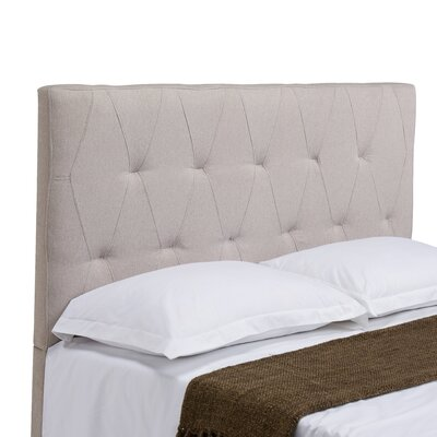 Robinson Upholstered Panel Headboard Size: King / California King, Upholstery: Cotton Flax