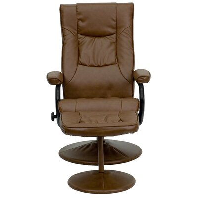 Manual Swivel Recliner with Ottoman Upholstery: Palimino
