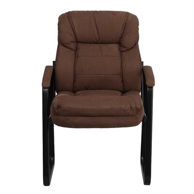 Coyne Executive Guest Chair Upholstery: Brown Microfiber