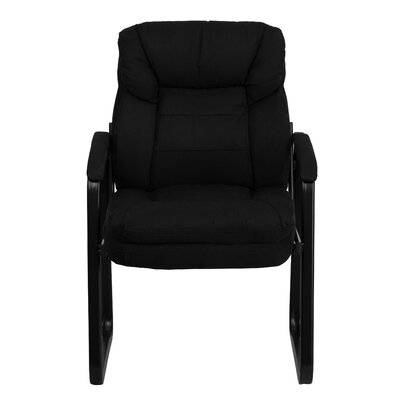 Coyne Executive Guest Chair Upholstery: Black Microfiber