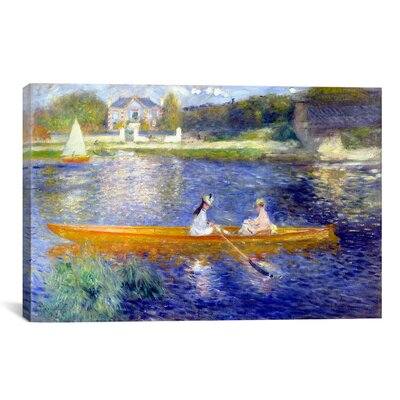 'The Seine at Asnieres' by Pierre-Auguste Renoir Painting Print on Canvas Size: 12