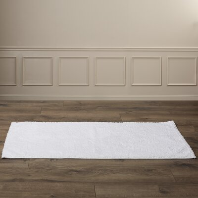 Roanoke Bath Rug Size: 24 x 40, Color: Whites