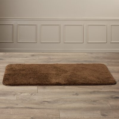 Stanley Bath Rug Size: 30 x 50, Color: Chocolate