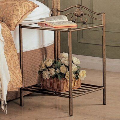 Emington Nightstand in Brush Gold