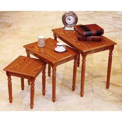 Raynsford 3 Piece Nesting Tables Color: Oak