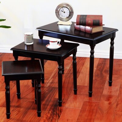 Raynsford 3 Piece Nesting Tables Color: Cherry