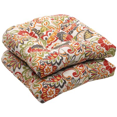 Tadley Outdoor Dining Chair Cushion Color: Red / Green Floral