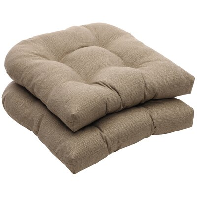 Tadley Outdoor Dining Chair Cushion Color: Taupe Textured Solid