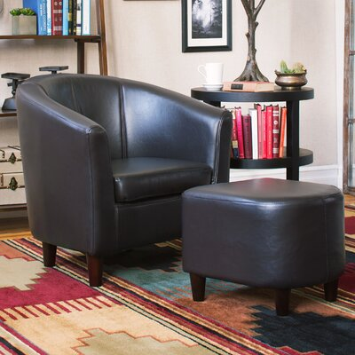 Calville Barrel Chair and Ottoman