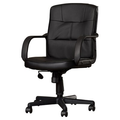 Reeve Mid-Back Leather Desk Chair (Set of 2)
