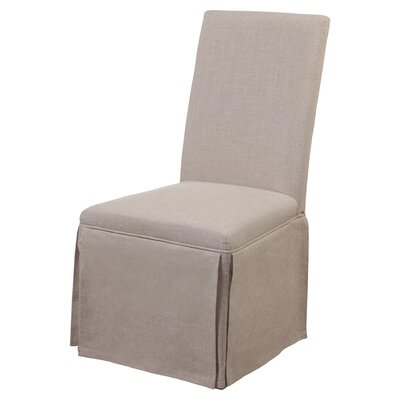 Babham Parsons Chair (Set of 2) Upholstery: Natural