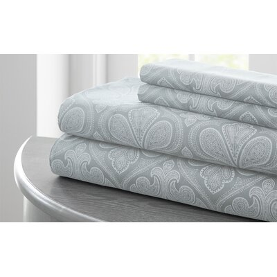 Fitzlewis Microfiber Sheet Set Size: California King, Color: Pearl Blue