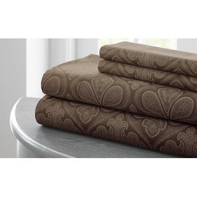 Fitzlewis 300 Thread Count Microfiber Sheet Set Size: King, Color: Taupe