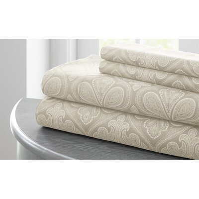 Fitzlewis Microfiber Sheet Set Size: Full, Color: Stone