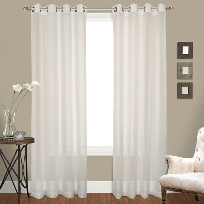Charlton Home Waterloo Venetian Grommet Curtain Panel