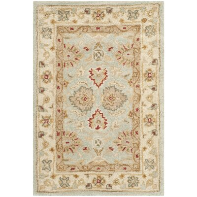 Otwell Blue/Beige Area Rug Rug Size: Oval 76 x 96