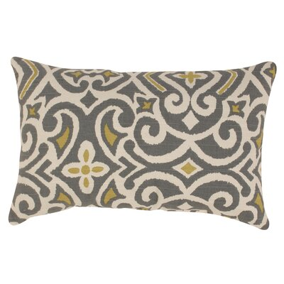 Fraley Lumbar Pillow Color: Gray / Greenish Yellow