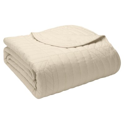 Calaw Quilted Throw Color: Ivory